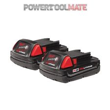 Genuine Milwaukee M18B M18B15 18V 1.5Ah RedLithium-Ion Battery (Twin Pack)