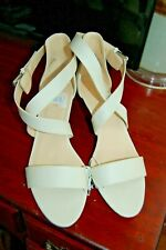 Nine West Sz 10 Cream Wedge Sandals NEW