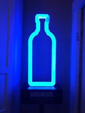 """NIB Absolut Vodka LED Neon Like Motion Activated 72"""" man-cave advertising stand"""