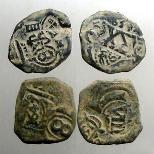 2 COPPER SPANISH PIRATE COBS___Colonial America__ORIGINAL TREASURE COINS__1600's