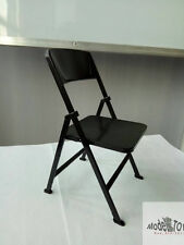 1/6 Dr.FIGURES Black Color Folding Chair F12'' Family Scene Fit Barbie Doll