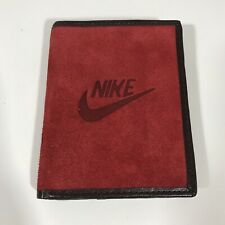 Rare NIKE HUNGUN Red Suede Black Leather Wallet Bifold Velise