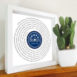 The Beatles - Framed Song Lyrics - Vinyl Record framed print - your song