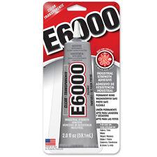 E6000 Craft Glue Resins Metals Crystals Bails 2oz 59.1ml INBUILT TIP USA Made FP