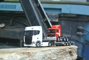 WSI Models | Scania S730 + Low Loader + Volvo F12 1:50 Scale