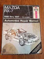 Haynes 61036 (1419) MAZDA RX-7 1986 - 1991 Repair Manual. Covers all Models