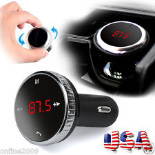 Bluetooth Wireless LCD Car Kit MP3 Player FM Transmitter Adapter USB Charger US