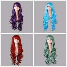 Women Long Hair Full Wig Curly Wavy Hair Wigs Party Costume Cosplay Colorful BY