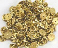 gold brass clutch back trading pin back military insignia guards Lot of 50