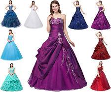 Neu Lang Abendkleid Ballkleid Cocktailkleid Brautkleid Formales Kleid Gr.34-44