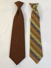 Vintage Wembley & Snapper Polyester Mens Clip On Neck Ties Lot of 2