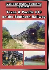 Texas & Pacific 610 on the Southern Railway DVD T&P 2-10-4 train video