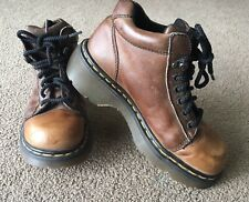Dr Marten's DM's Leather Ankle Boot Sz 6 Made In England Brown 8550 2000s 5 eyel
