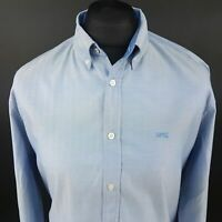 McGregor Mens Casual Shirt LARGE Long Sleeve Blue Regular Fit No pattern Cotton
