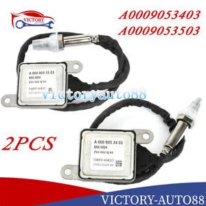 2X A0009053403+A0009053503 Nox Sensor For Mercedes W212 W222 C218 X218 A207 C207