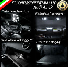 KIT LED INTERNI AUDI A3 8P , 8PA KIT COMPLETO 6000K CANBUS