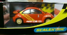 HORNBY HOBBIES SCALEXTRIC VW BEETLE PIRELLI No 3 SCALE MODEL RED/YELLOW