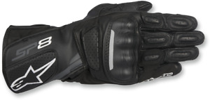Alpinestars Mens SP-8v2 Pair Leather Motorcycle Riding Street Racing Gloves