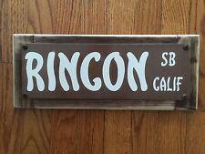 Rincon Santa Barbara Ca Surf Surfing Surfboard Tom Curren Vintage Street Sign