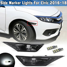 Smoked Side Marker Turn Signal Lights Lamp T10 LED Bulb For Honda Civic 16 17 18