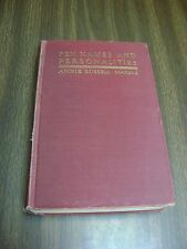 Pen Names and Personalities Vintage 1930  by Annie Russell Marble
