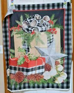 Christmas Gingham Panel by Springs Creative btp