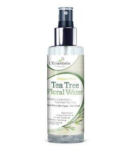 Organic 100% Natural Tea Tree Floral Water 150ml Antifungal Acne Glass Bottle