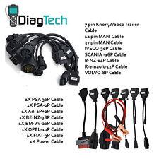 Cars & Trucks 16 Cables for AutoCom TCS CDP+ DELPHI DS150 Diagnostic DAF scania
