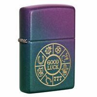 Zippo Lucky Symbols Iridescent Pocket Lighter, 49399