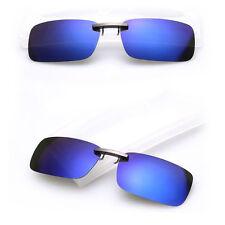 Blue Sunglasses Clip On Flip-up Driving Polarized Glasses  Night Vision  UV400