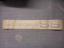 1983 1984 MONTE CARLO SS DOOR DECAL NOS 14070901