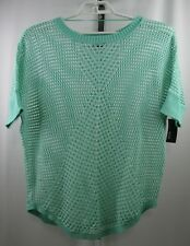a.n.a A New Approach Women's X-Large Loose Knit Short Sleeve Sweater Blouse