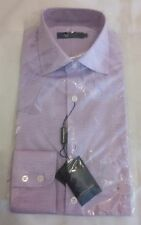 """HOLLAND ESQUIRE Chevron Pattern Long Sleeve shirt Lilac Size 15"""" / 38"""