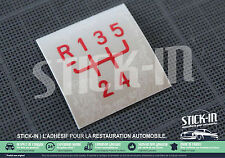 Autocollant Stickers Pommeau Renault 5 GT turbo GTT R5 gearknob shiftgear