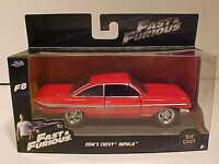 Fast & Furious 8 Dom's 1961 Chevy Impala Diecast Car 1:32 Jada Toys 5 inch F8