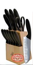 MasterChef 13pc EVERSHARP 2-Santoku Knife Cutlery Set Block & Steak Knives KM132