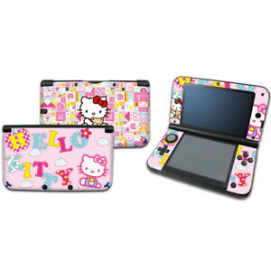 Pink Kitty Cat DECAL 29 Skin Sticker Cover For Nintendo original 3DS XL/LL