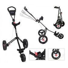 Trimaster 2 Fastfold Lightweight Three Wheel Push / Pull Golf Trolley Black New