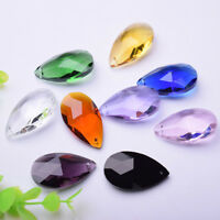 10Pcs Teardrop Crystal Glass Loose Beads Pendants Jewelry Making DIY 22mm