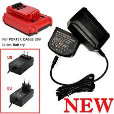 1*20V Cargador de baterías de litio LCS1620 Max forblack + Decker/Porter-Cable/Stanley