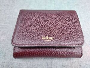 Mulberry Purse Wallet Oxblood Leather Authentic Excellent Condition
