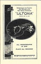 Ultona (Brunswick-Balke-Collender Co.) - ADVERTISEMENT & INFORMATION - REPRINT
