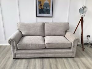 Parker Knoll Large 2 Seat Seater Sofa In Duck Egg Fabric (Canterbury)