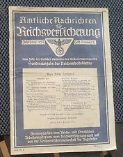 Amtliche Nachrichten Jahrgang 1938 Ausgabe 2 Reichsversicherungen