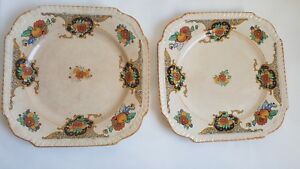 Vintage Ivory England 2x Plates