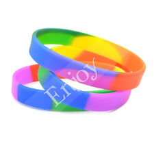 1 Pc Gay Les Pride Love Silicone Bracelet Bangle Wristband Fashion Jewelry Gifts