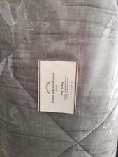 Pottery Barn Linen Silk Queen Comforter & Shams Flagstone Gray/Ebony NEW