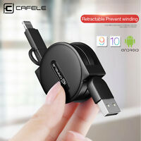 1.5M 2 in1 Retractable Micro USB Cable Charger Data Sync Line for iPhone X 6 7 8