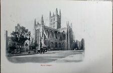 1904 Bath Abbey Postcard To: Spencer Road, Putney