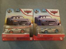 "Lot of 2 Disney Pixar Cars Diecast of ""Tom W"" & ""Aiden"""